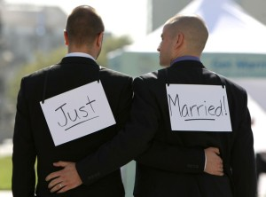 Same-Sex marriage Just Married couple