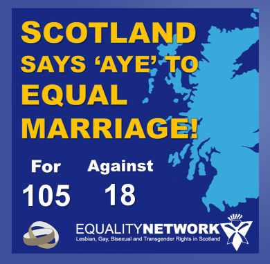 Scotland Legalises Same-Sex Marriage